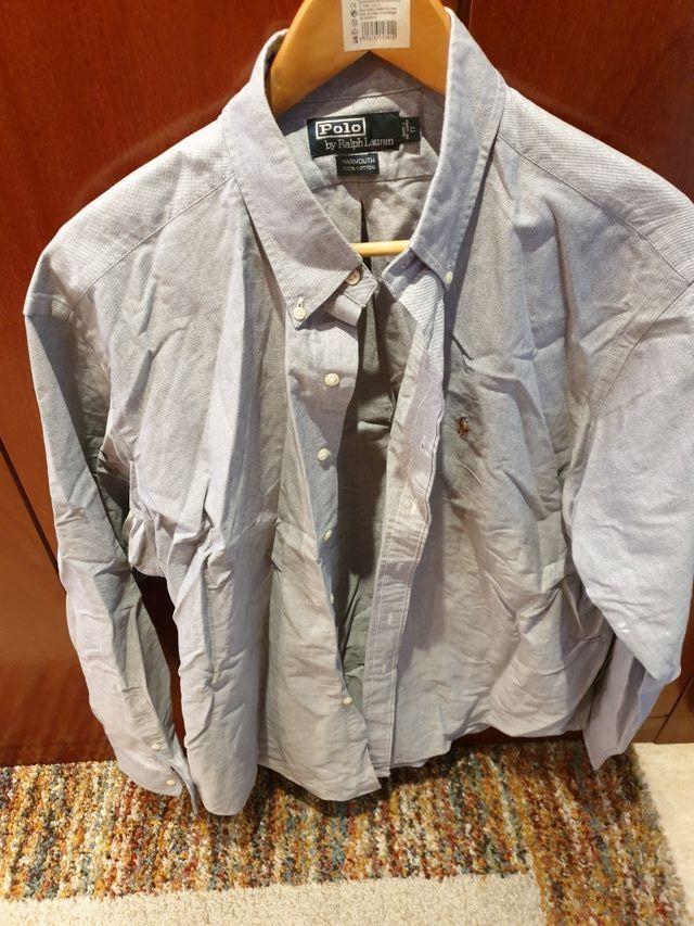 camisa lisa lila Ralph lauren
