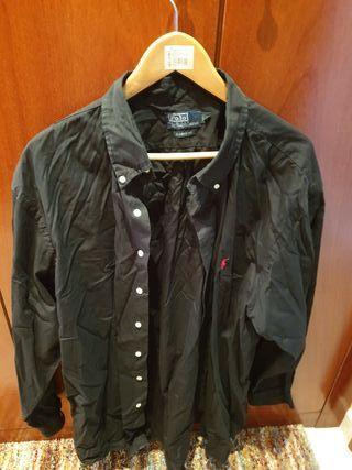 camisa lisa Negra Ralph lauren