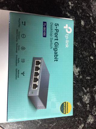 SWITCH TP-LINK TL-SG105 5 puertos Gigabit. NUEVO