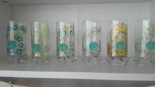 seis vasos cristal de diseño nuevos