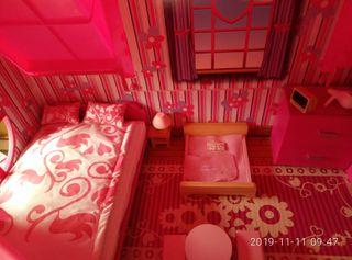 casa grande de 3 plantas de muñecas