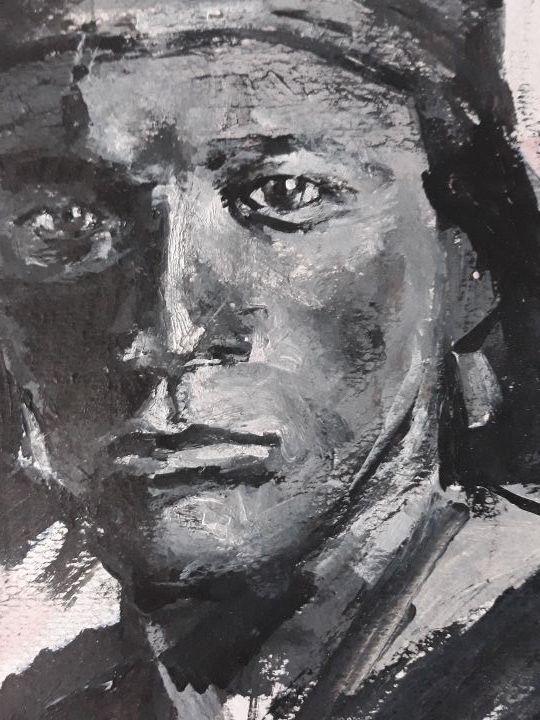 obra retrato navajo boy