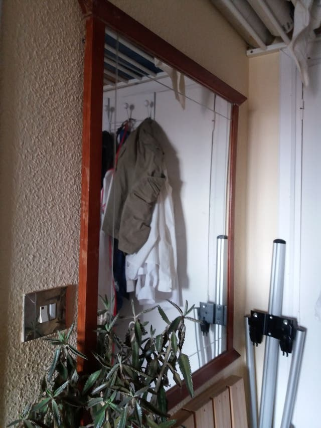Gran espejo biselado antiguo
