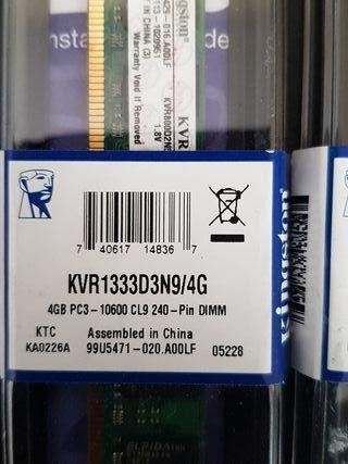Memoria RAM KINGSTON DDR3 1333 4Gb