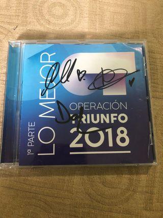 Disco Operacion Triunfo 2018 firmado