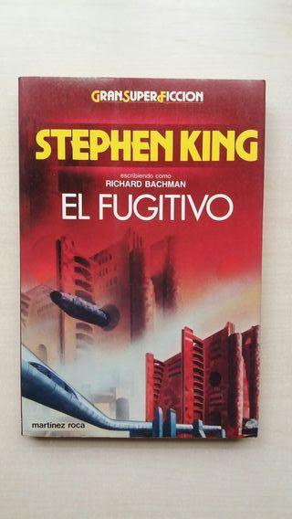 Libro El fugitivo. Stephen King.