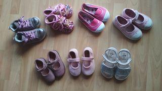 Lote zapatos y zapatillas niña números 23 y 24