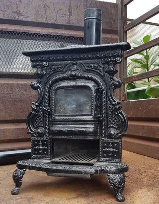 chimenea de hierro