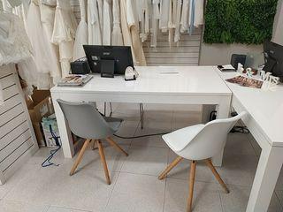 mesa lacada blanca brillo