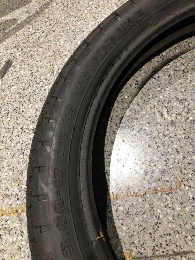 Neumático 3.00-17 pirelli mt 15 mandrake