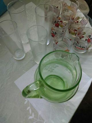 lote de vasos de cristal