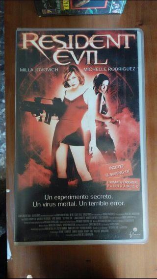 peliculas de video VHS Resident Evil