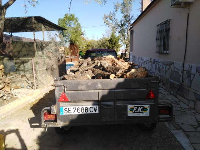 se vende leña seca de olivo