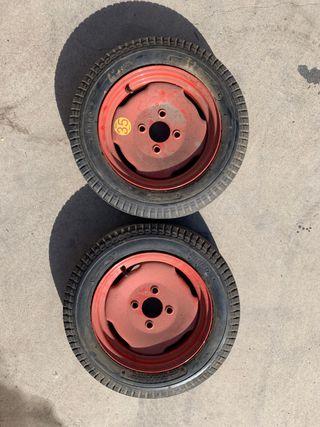 Llanta 12 y neumático para recambio microcohe