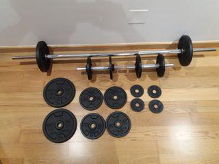 Pesas y barras de musculacion nuevas 50 kg