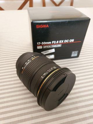 Objetivo Sigma 17-50 mm 2.8 para Nikon