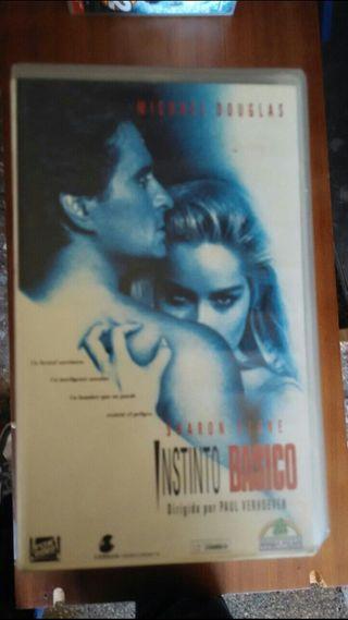 peliculas de video VHS Instinto basico