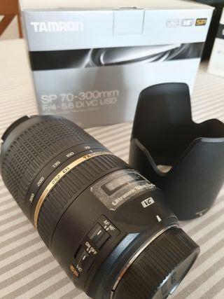 Objetivo Tamron 70-300 mm SP VC para Nikon