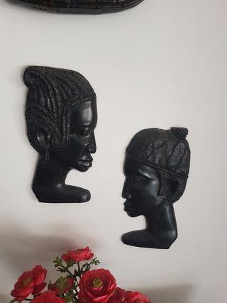 Máscaras africanas de ebano