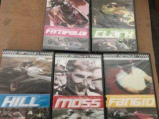 Lote dvd pilotos formula 1