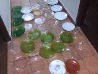 50 platos porcelana y DURALEX