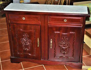 Aparador vintage madera/marmol