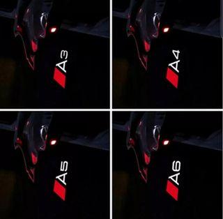 4 piezas luz led logotipo Audi