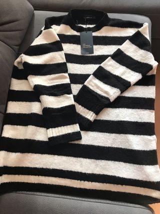 Jersey oversize de rayas de Zara
