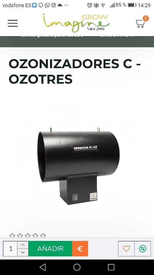 Vendo generador C-2 ozono para olor de cultivo