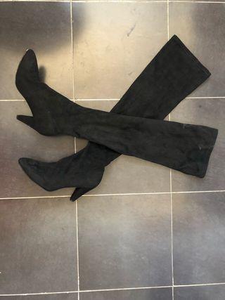 botas mosqueteras altas negras