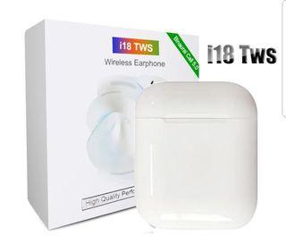 Auriculares Bluetooth I18 tws blancos Nuevos