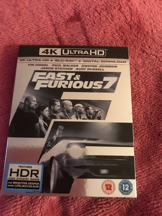 New Fast & Furious 7 4K Blu Ray