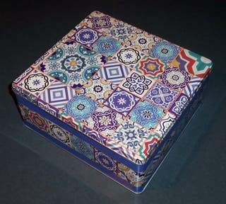 Caja / Lata AZULEJOS - ¡Una preciosidad!