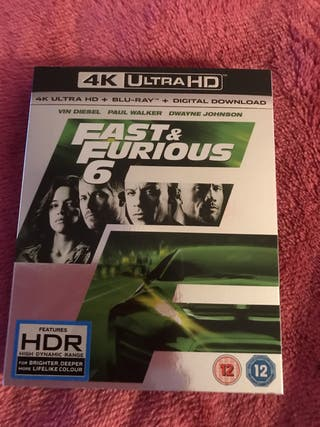 New Fast & Furious 4K Blu Ray