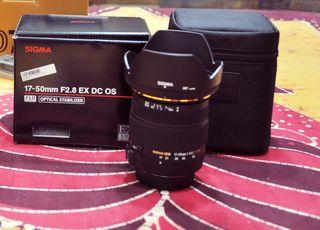 Objetivo Sigma 17-50 f/2.8 Nikon.