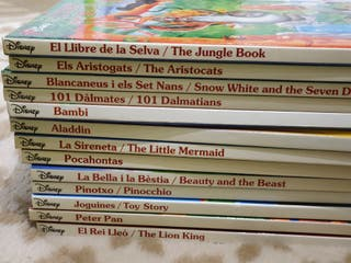 Libros catalan-ingles disney