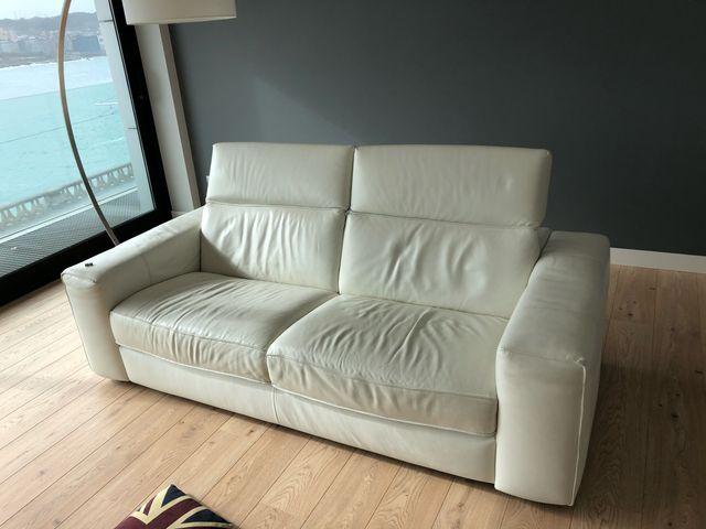 Sofa piel Natuzzi 3 plazas