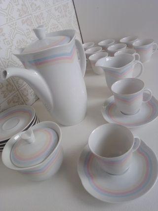 Juego de café de porcelana de Bavaria.