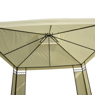 Carpa 3x3m Color Crema Estructura Metal Gazebo Cen
