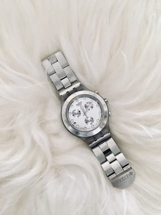 "Reloj Swatch ""Full-Blooded Silver"""
