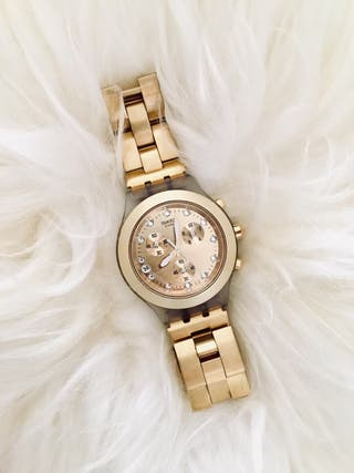 "Reloj Swatch ""Full-Blooded Gold"""