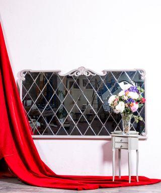 Espejo Cabecero Antiguo Restaurado Belmont