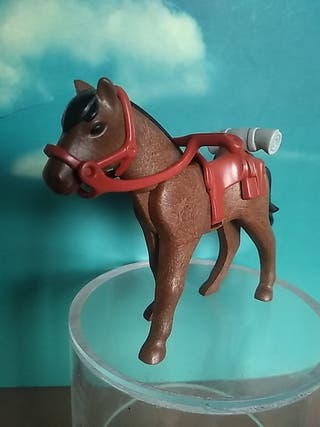 Playmobil caballo oeste Marron con manta