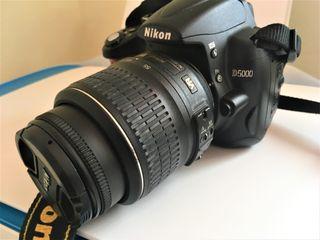 Camara Nikon D5000+ tarjeta 8 GB+ bolsa