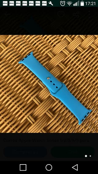 Correa para Apple Watch series 1/2/3/4/5 azul ciel