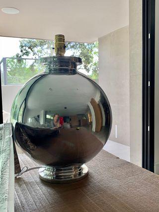 Moderna lámpara de pewter