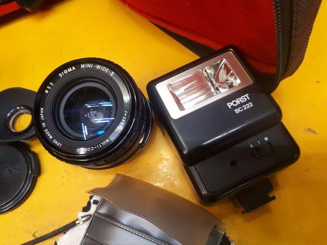 Asahi Pentax K100 mas objetivo mas accesorios.