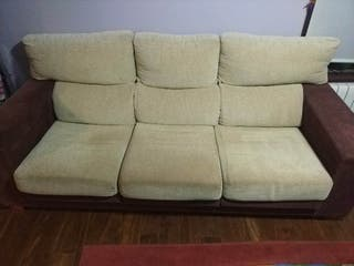sofá de 3 plazas con sillon.