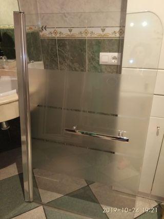 mampara de cristal de bañera