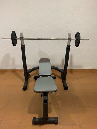 Banco Pesas Musculación + banco abdominales